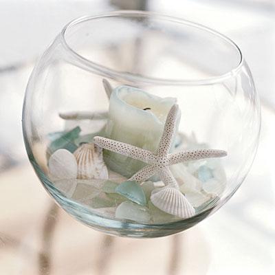 staklena kugla školjke