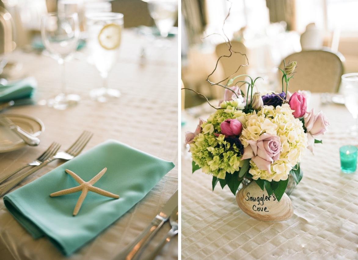 morsko vencanje dekoracija